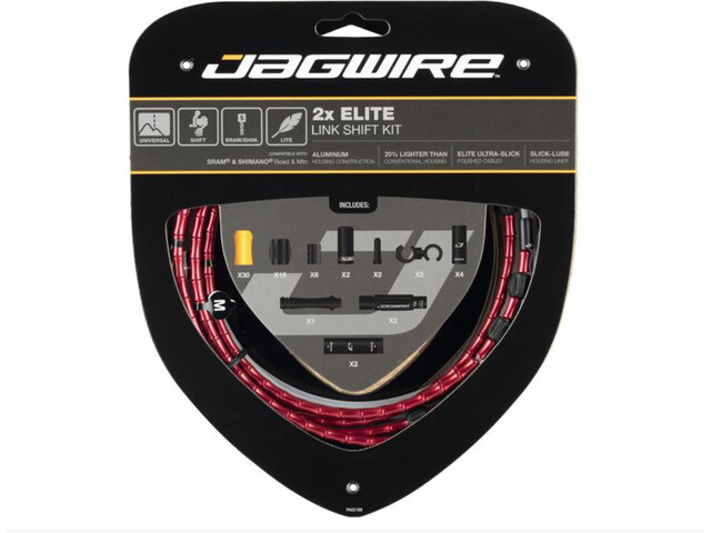 Jagwire 2X Elite Link Set Cavo Del Cambio, red